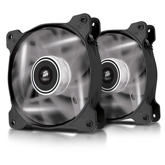 Ventilateur Boîtier Corsair SP120 High Static Pressure LED Blanc - Dual Pack
