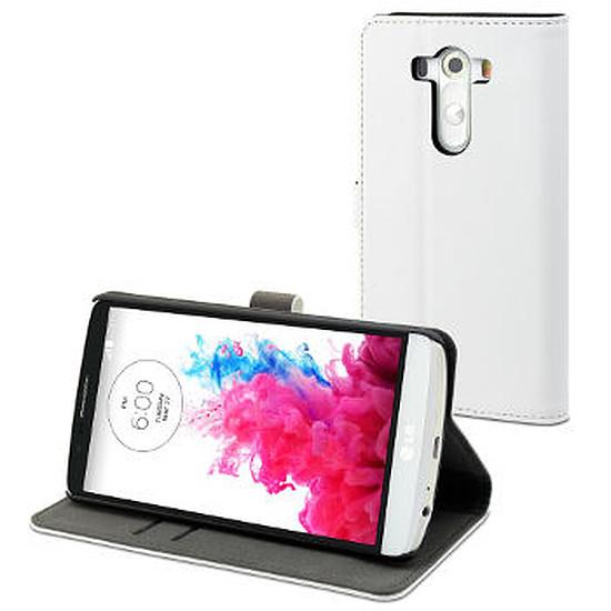 Coque et housse Muvit Etui à rabat (blanc) - LG G3