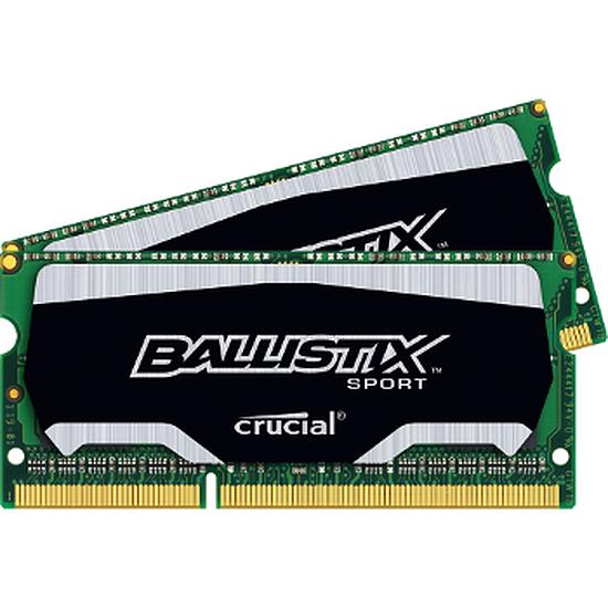Mémoire Crucial SO-DIMM Ballistix Sport DDR3L 2 x 8 Go 1600 MHz C9