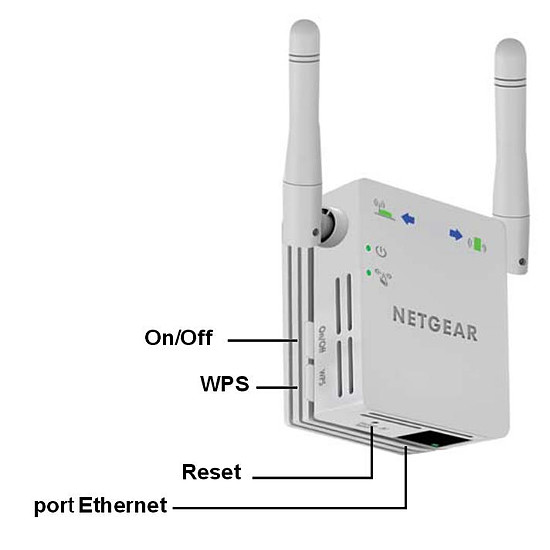 Répéteur Wi-Fi Netgear Répéteur Wi-Fi N universel compact - WN3000RP v2 - Autre vue