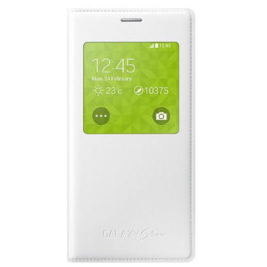 Coque et housse Samsung Etui Clear Cover (blanc) - Galaxy S5 mini
