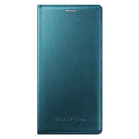 Coque et housse Samsung Etui Wallet Cover (bleu) - Galaxy S5 mini
