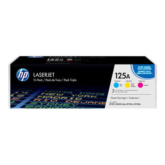 Toner imprimante HP Pack 3 toner 125A (CF373AM) - Cyan/Magenta/Jaune
