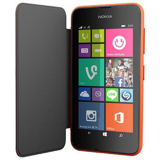 Coque et housse Nokia Etui Folio (orange) - Lumia 530
