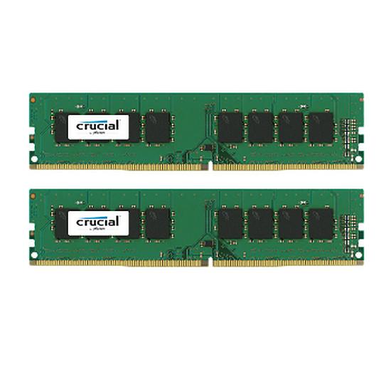 Mémoire Crucial 8 Go (2 x 4 Go) DDR4 2133 MHz CL15 SR
