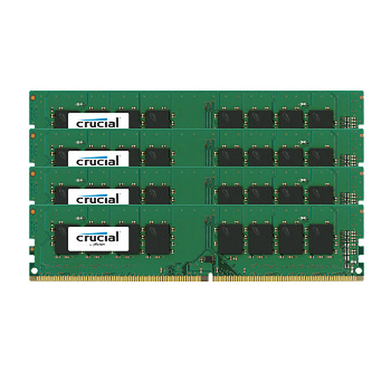 Mémoire Crucial DDR4 4 x 4 Go 2133 MHz CAS 15