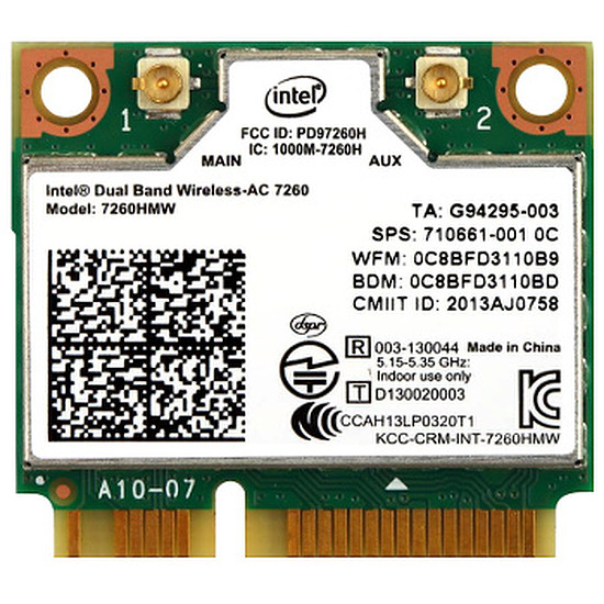 Carte réseau Intel Dual Band Wireless-AC 7260 laptop - 7260.HMWWB.R