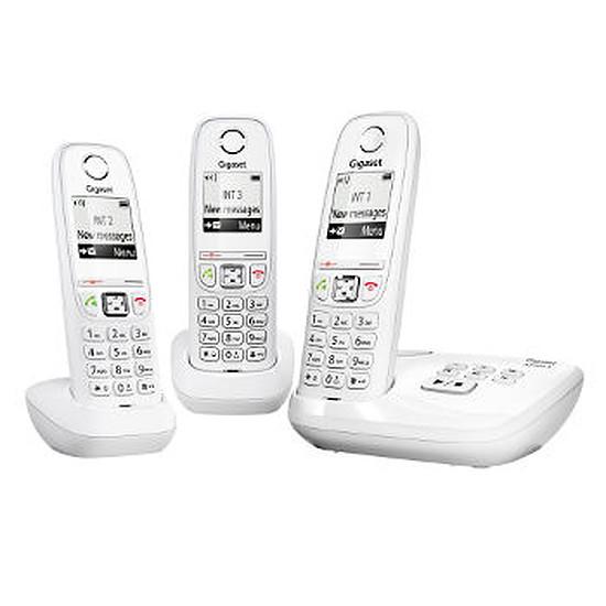 Téléphone fixe sans fil Gigaset AS405A Trio (blanc)