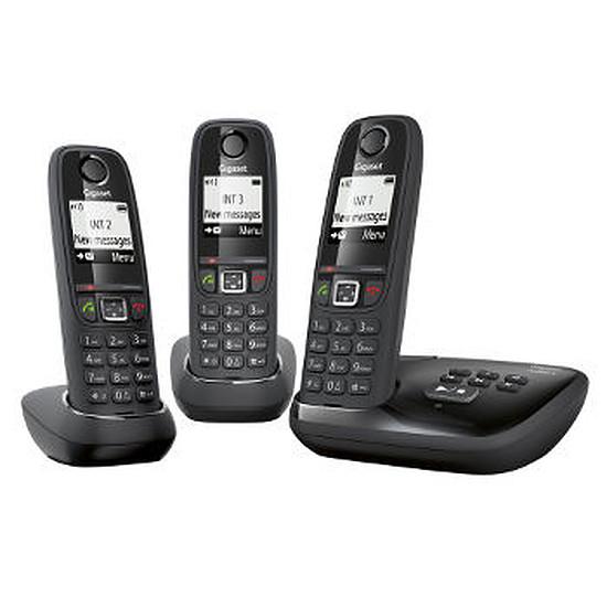 Téléphone fixe sans fil Gigaset AS405A Trio (noir)
