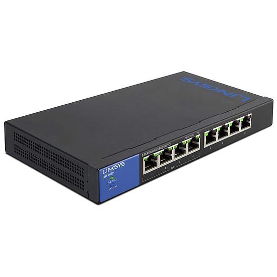 Switch et Commutateur Linksys LGS108P-EU - Switch non manageable PoE+ (50W) 8