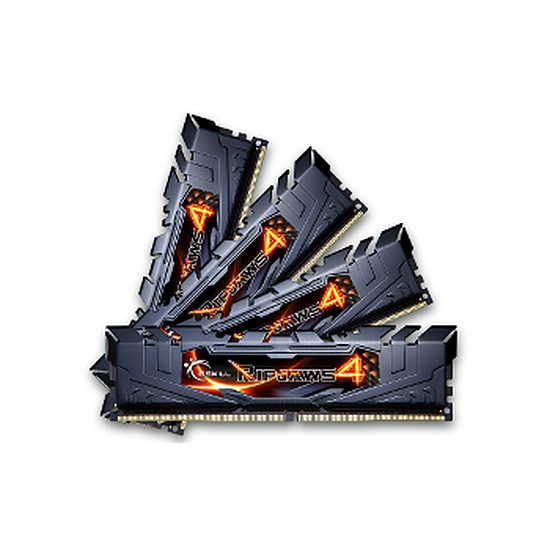 Mémoire G.Skill Ripjaws 4 Black DDR4 4 x 4 Go 2400 MHz CAS 15