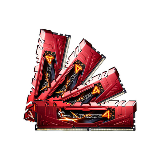 Mémoire G.Skill Ripjaws 4 Red DDR4 4 x 4 Go 2400 MHz CAS 15
