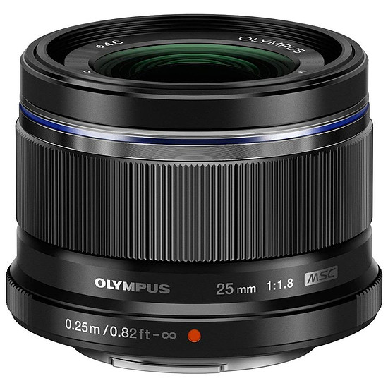 Objectif pour appareil photo Olympus M. Zuiko Digital 25 mm f/1.8 noir