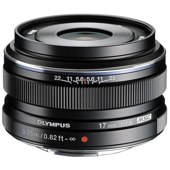 Objectif pour appareil photo Olympus M. Zuiko Digital 17 mm f/1.8 noir