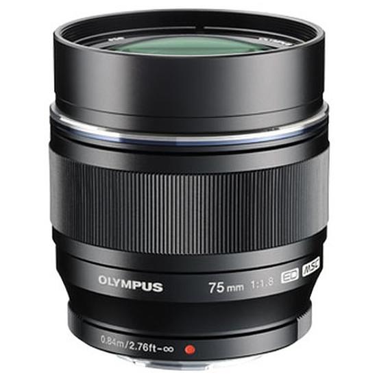 Objectif pour appareil photo Olympus M. Zuiko Digital ED 75 mm f/1.8 noir