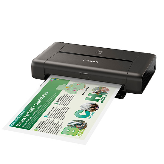 Imprimante jet d'encre Canon PIXMA iP110 - Imprimante Jet d'encre Photo WiFi