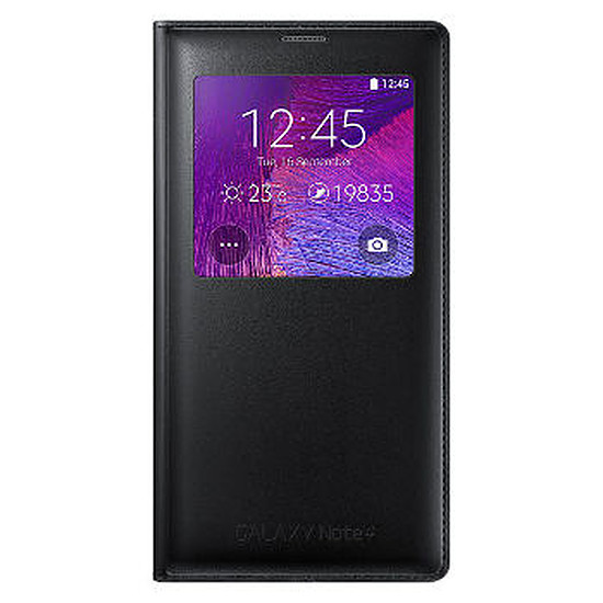 Coque et housse Samsung Etui Clear Cover (noir) - Galaxy Note 4