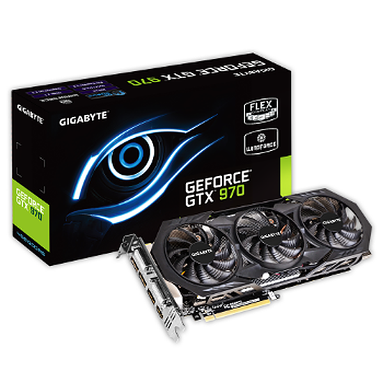 Carte graphique Gigabyte GeForce GTX 970 OC WindForce 3X - 4 Go
