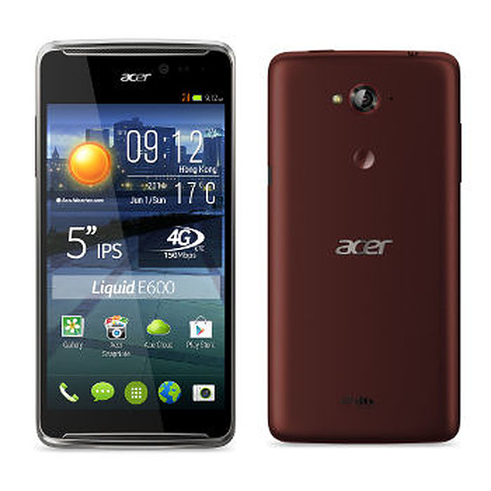 Smartphone et téléphone mobile Acer Liquid E600 (rouge)