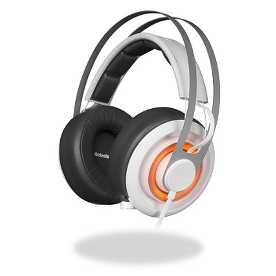 Casque micro SteelSeries Siberia Elite Prism - Blanc