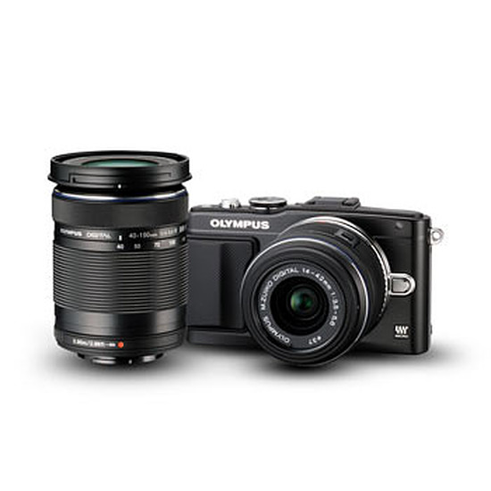 Appareil photo hybride Olympus PEN E-PL5 + 14-42mm IIR + 40-150mm + Flash FL-LM1