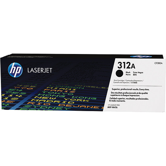 Toner imprimante HP 312A - CF380A Noir