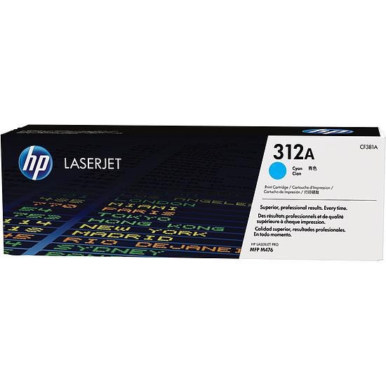 Toner imprimante HP 312A - CF381A Cyan