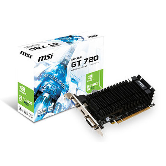 Carte graphique MSI GeForce GT 720 - 2 Go DDR5 Passive (N720-2GD5HLP)