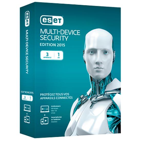 Antivirus et sécurité ESET Multi-Device Security (1 an, 3 postes)
