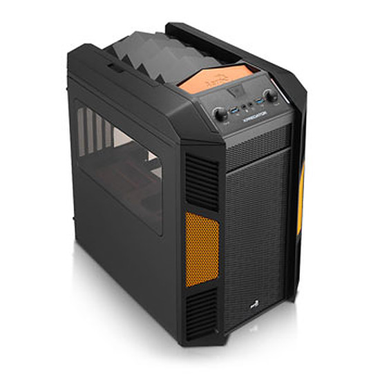 Boîtier PC Aerocool Xpredator Cube micro ATX - Noir / Orange