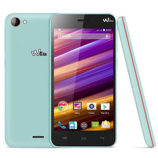 Smartphone et téléphone mobile Wiko Jimmy (bleu / orange)