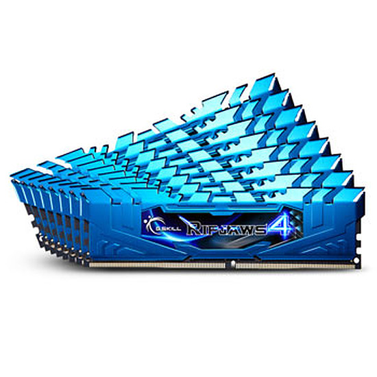 Mémoire G.Skill Ripjaws 4 Blue DDR4 8 x 4 Go 3000 MHz CAS 15
