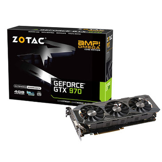 Carte graphique Zotac GeForce GTX 970 AMP! OMEGA Core Edition - 4 Go