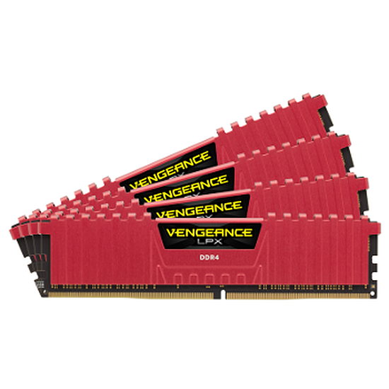Mémoire Corsair Vengeance LPX Red DDR4 4 x 8 Go 2666 MHz CAS 16