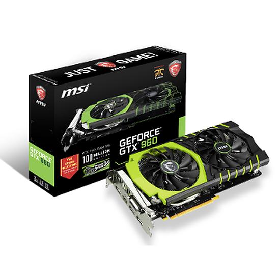 Carte graphique MSI GeForce GTX 960 Gaming 100ME (Ed. Limitée) - 2 Go