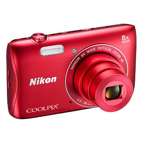 Appareil photo compact ou bridge Nikon Coolpix S3700 Rouge