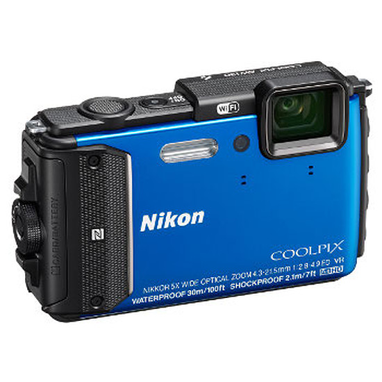 Appareil photo compact ou bridge Nikon Coolpix AW130 Bleu