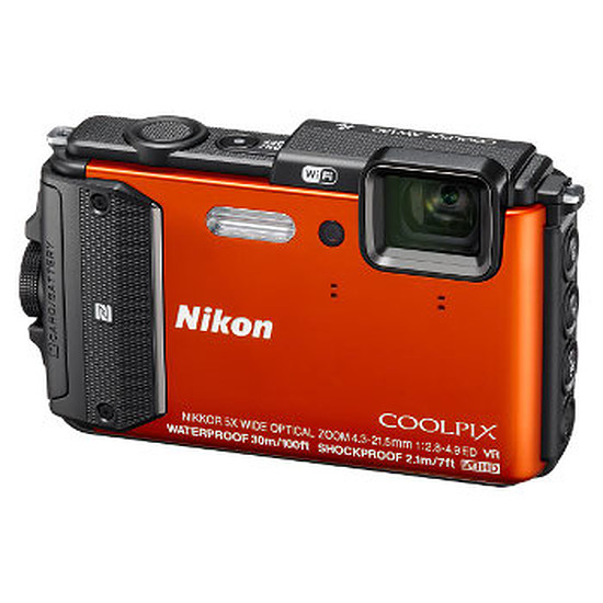 Appareil photo compact ou bridge Nikon Coolpix AW130 Orange