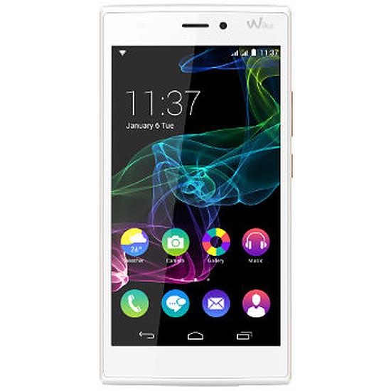 Smartphone et téléphone mobile Wiko Ridge 4G (blanc / or)