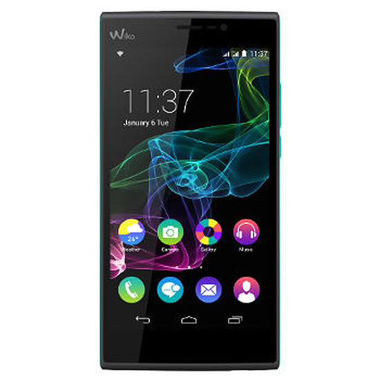 Smartphone et téléphone mobile Wiko Ridge FAB 4G (noir / Turquoise)