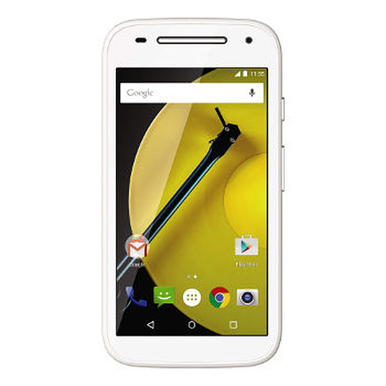 Smartphone et téléphone mobile Motorola Moto E - 4G (blanc)