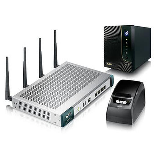 Point d'accès Wi-Fi Zyxel UAG2100 avec imprimante et serveurs de logs