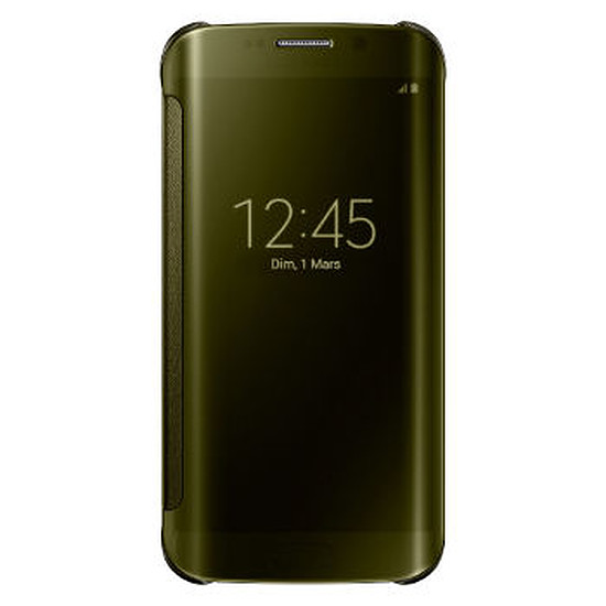 Coque et housse Samsung Etui Clear View Cover (or) - Galaxy S6 Edge