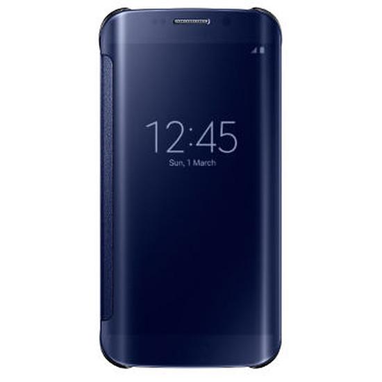 Coque et housse Samsung Etui Clear View Cover (noir) - Galaxy S6 Edge