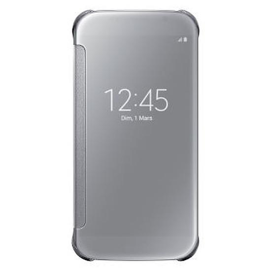 Coque et housse Samsung Etui Clear View Cover (argent) - Galaxy S6