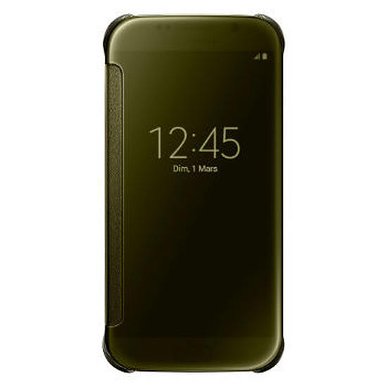 Coque et housse Samsung Etui Clear View Cover (or) - Galaxy S6