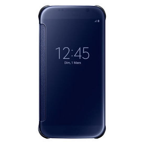 Coque et housse Samsung Etui Clear View Cover (noir) - Galaxy S6