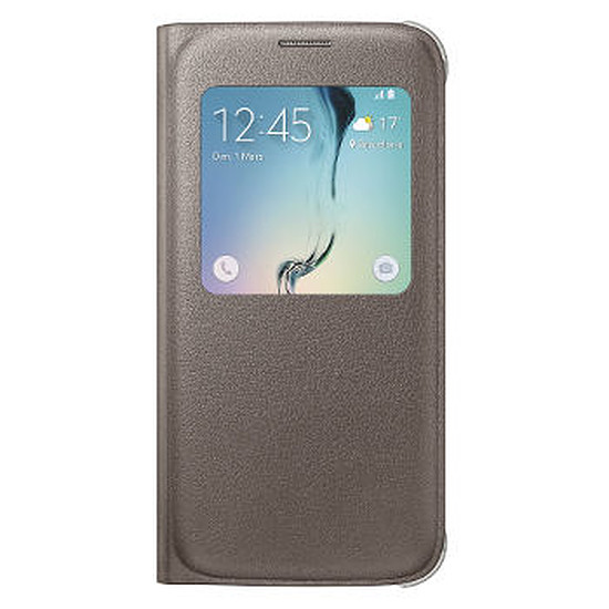 Coque et housse Samsung Etui S View Cover (or) - Galaxy S6