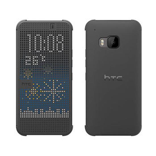Coque et housse HTC Etui Folio DOT VIEW CASE I (gris) - HTC One M9