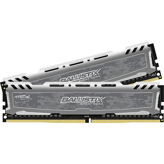Mémoire Ballistix Sport LT DDR4 2 x 4 Go 2400 MHz CAS 16 SR